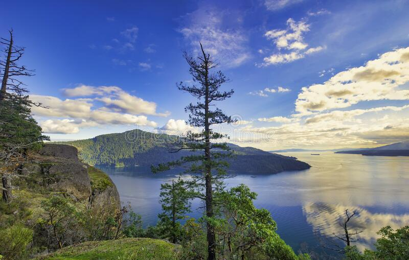 Scenic view of Maple Bay in Vancouver Island, British Columbia stock photos
