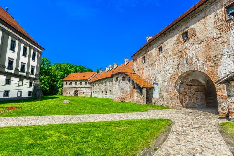Architecture in Cakovec, Croatia. Scenic view at medieval architecture in old town Cakovec, famous tourist place in Međimurje, Croatia royalty free stock photo