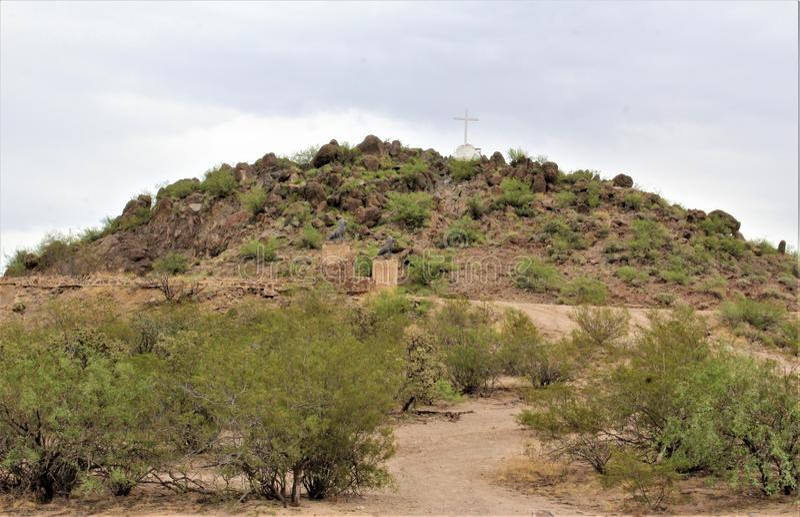 Mission San Xavier del Bac, Tucson, Arizona, United States. Scenic view of Mission San Xavier del Bac, located in Tucson, Arizona, United States royalty free stock images