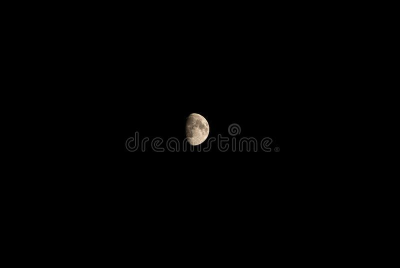 Scenic view of moon in night stock photography