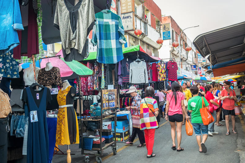 Scenic view of the morning market in Ampang, Malaysia. Selangor,Malaysia - July 10,2017 : Scenic view of the morning market in Ampang, Malaysia. The morning stock photo