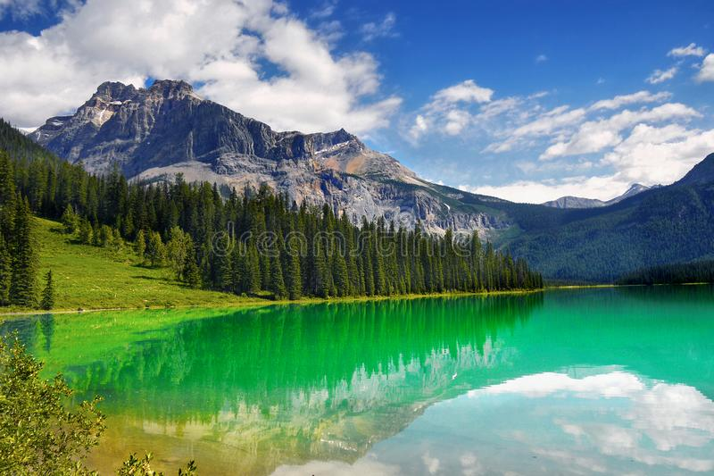 Canadian Rockies Scenic Mountain Landscape Lake stock photo