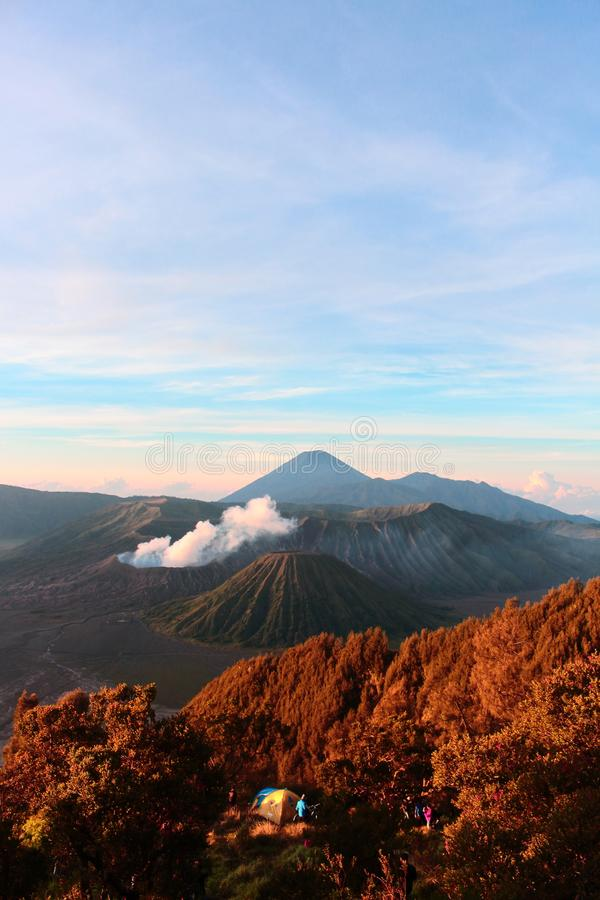 Scenic View Of Mountain Range. This picture was taken in Mount Bromo Indonesia royalty free stock photography