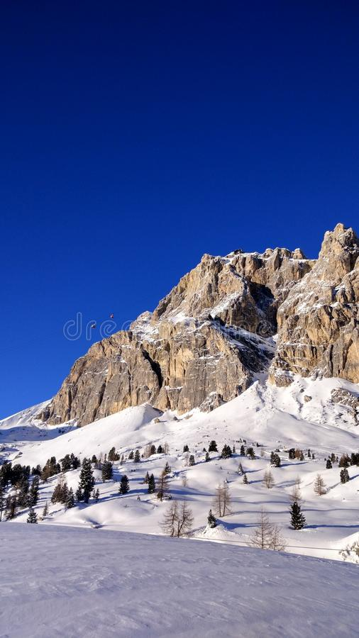 Scenic View of Mountain During Winter royalty free stock images