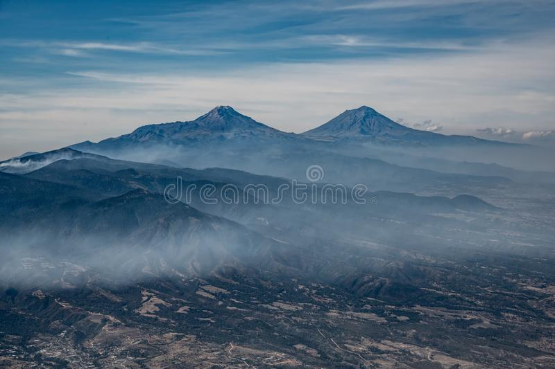 Scenic View of Mountains royalty free stock photos