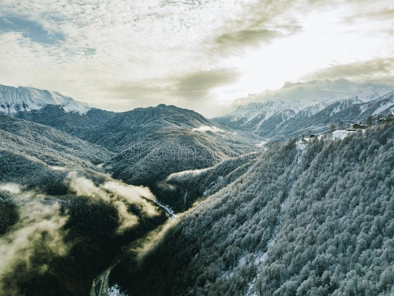 Scenic View Of Mountains royalty free stock photography