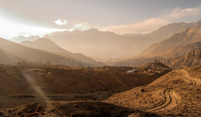 Scenic View of Mountains stock photo