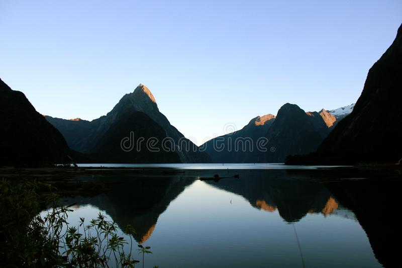 Scenic View of Mountains Under Clear Sky stock photos