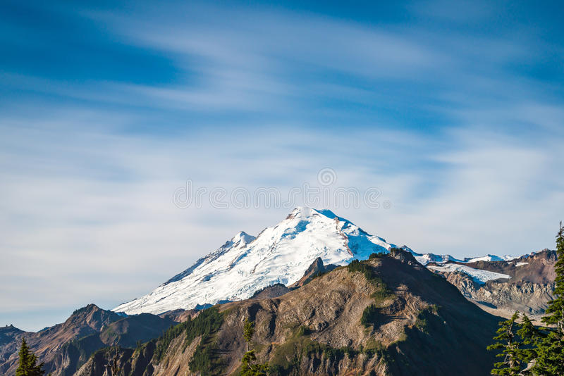 Scenic view of mt Baker from Artist point hiking area.  royalty free stock photo