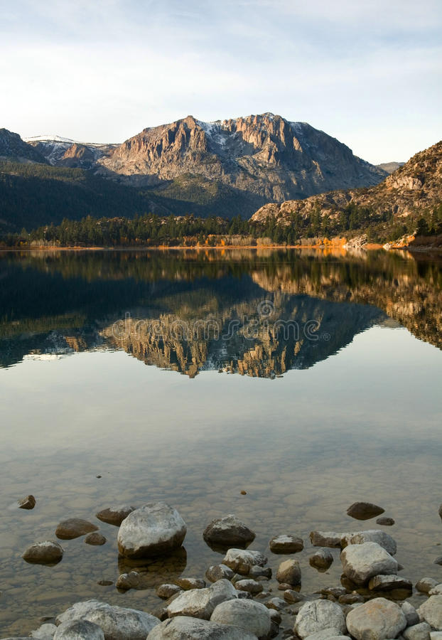 Free Scenic View Of A Mountain And Lake With Reflection Royalty Free Stock Photo - 17422505