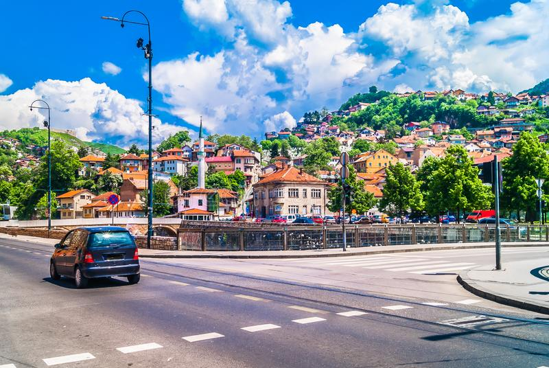 Old town Sarajevo in Eastern Europe, travel destination. royalty free stock photos