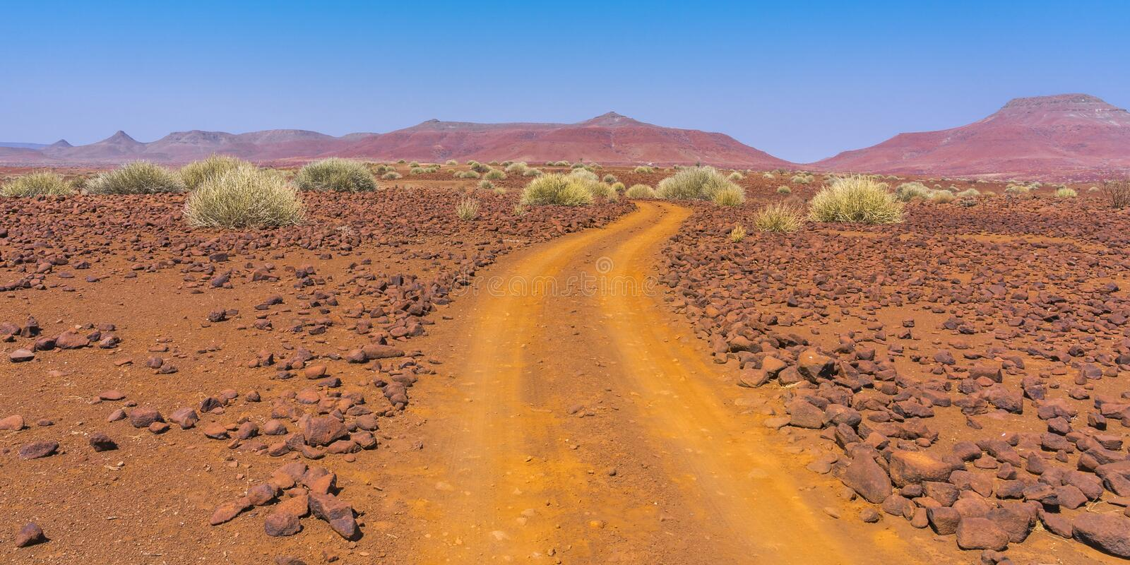 Scenic view of the Palmwag Concession Area in Namibia. royalty free stock photo