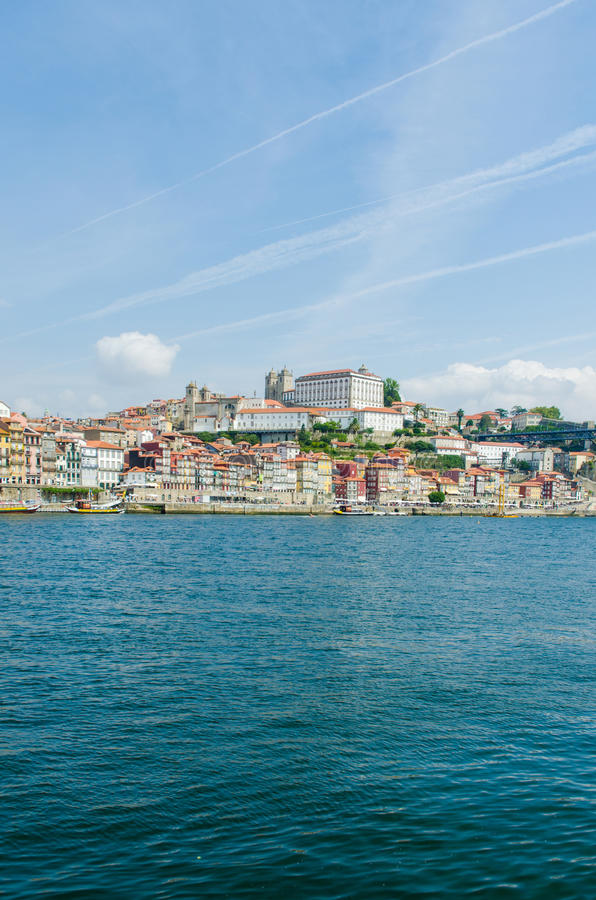 The scenic view of porto city stock photography