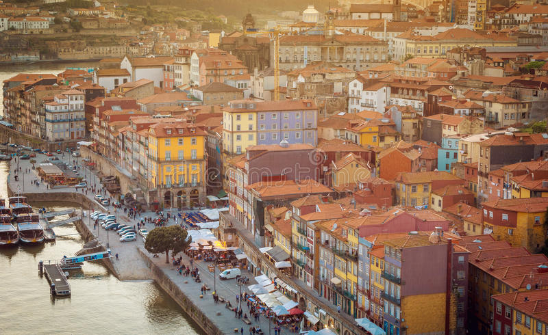 Download Scenic View Of Porto Old Town And Douro River Stock Image - Image: 83723733