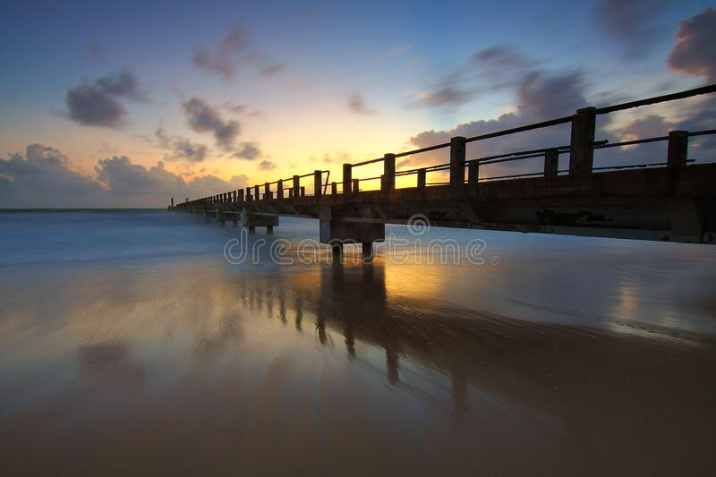 Scenic View of Sea Against Sky at Sunset royalty free stock images