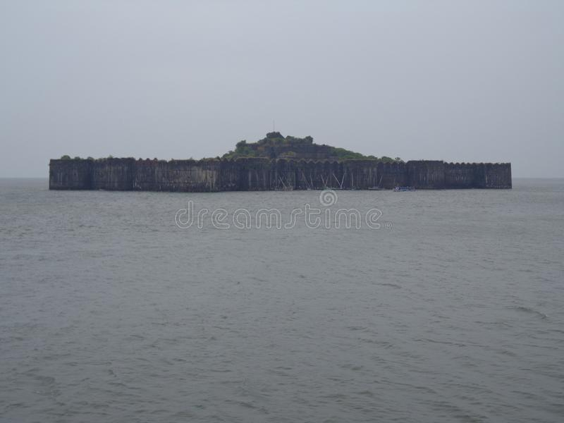 Scenic view of sea and sea forts. Indian historical palaces architecture art and designs historical places stock images