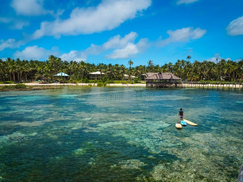Scenic view of Siargao Island royalty free stock photos