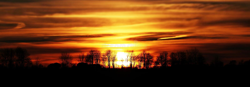 Scenic View Of Silhouette Landscape Against Sunset Sky Free Public Domain Cc0 Image