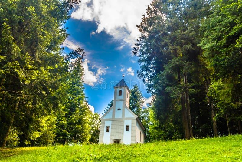 Small chapel in Zagorje, Croatia. stock photos