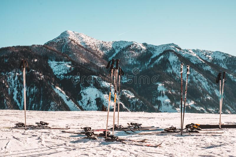 Scenic View of Snowcapped Mountains Against Sky royalty free stock image