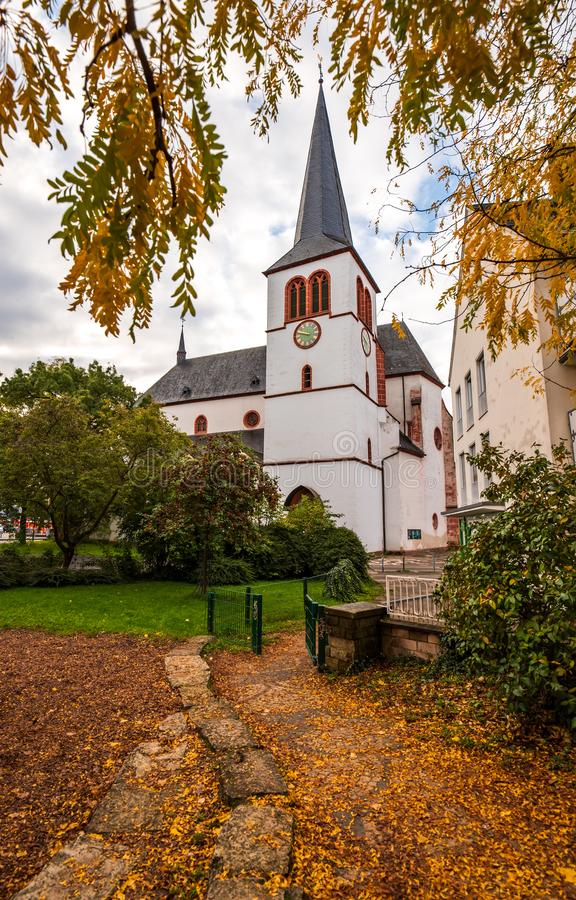 Scenic view of St. Antonius gothic church in Trier, Germany royalty free stock photography