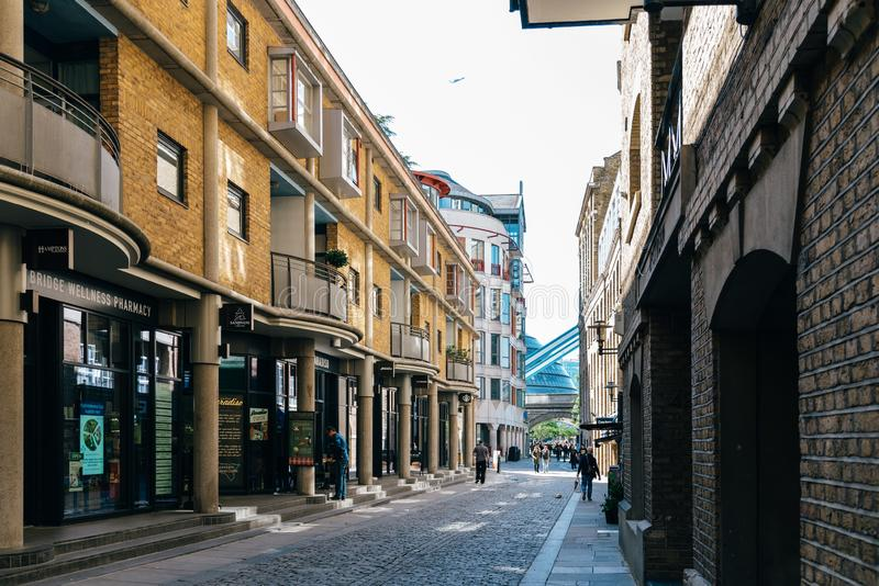Scenic view of street in Butler Wharf area royalty free stock photo