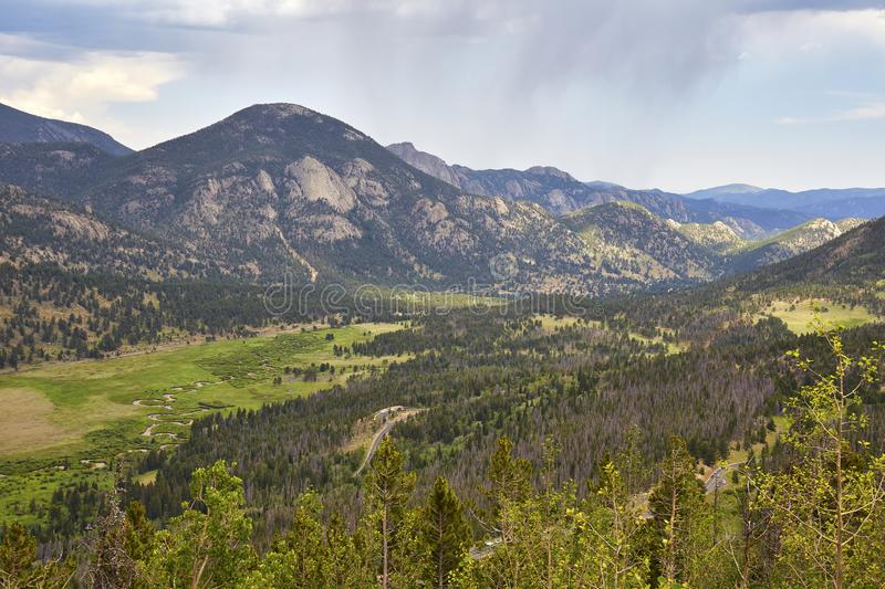 Rocky Mountain National Park, Colorado. Scenic view from Trail Ridge Road in Rocky Mountain National Park, Colorado royalty free stock image