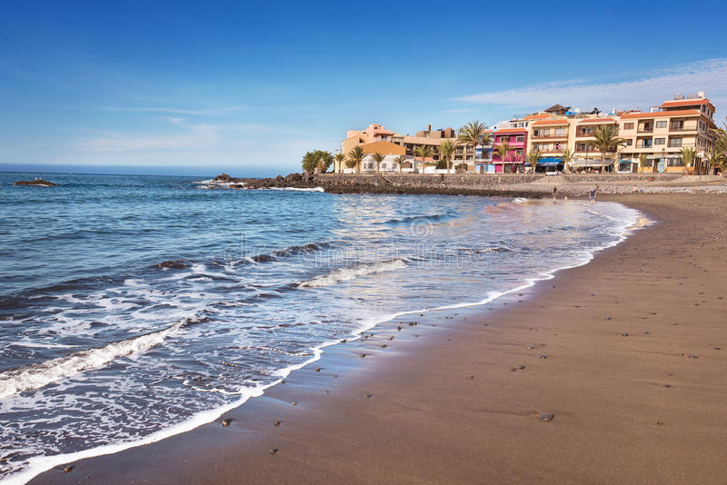 Scenic view of Valle Gran Rey beach in La Gomera, Canary islands, Spain. royalty free stock photos