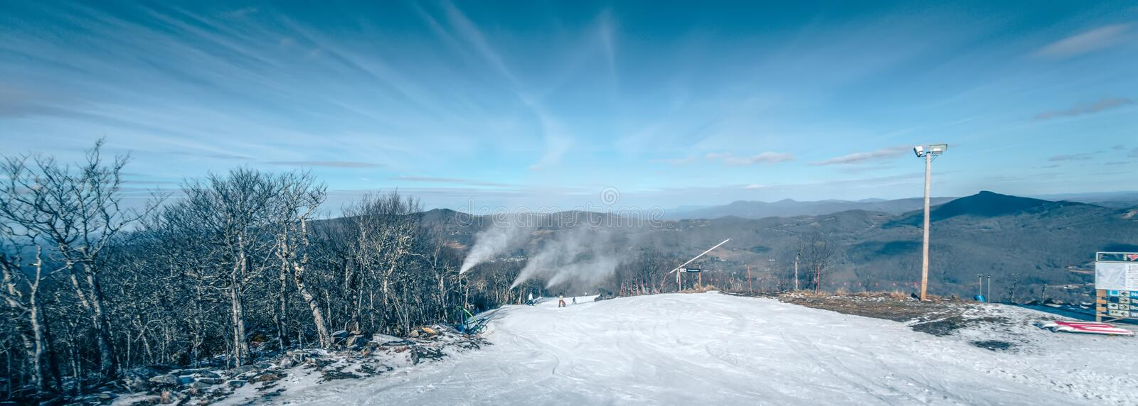 Scenic views around sugar mountain ski resort in north carolina. Mountains royalty free stock photography