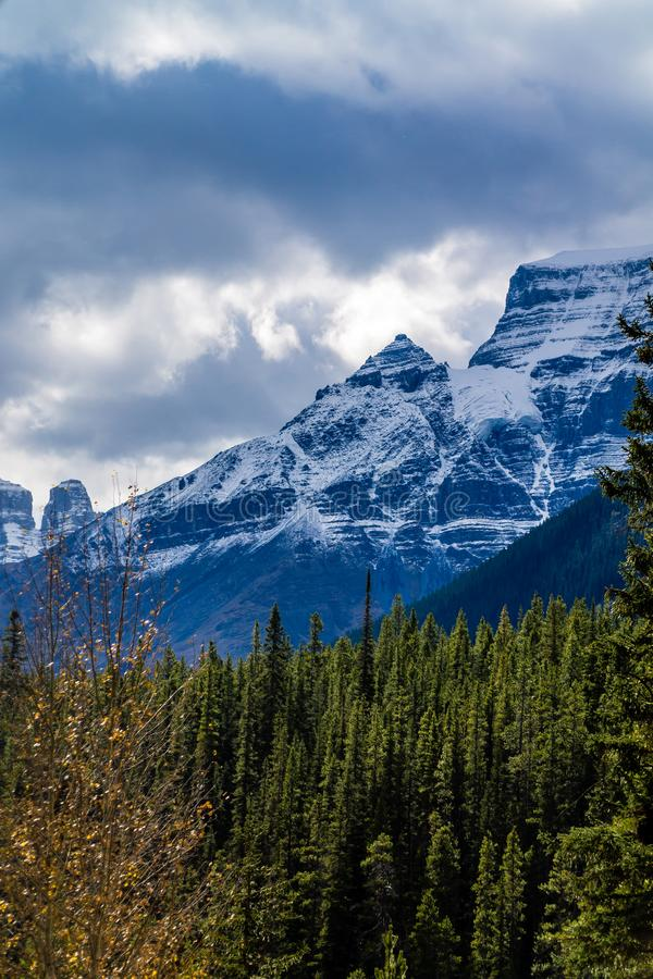 The scenic views from the Ice Field Parkway, Banff National Park stock photography