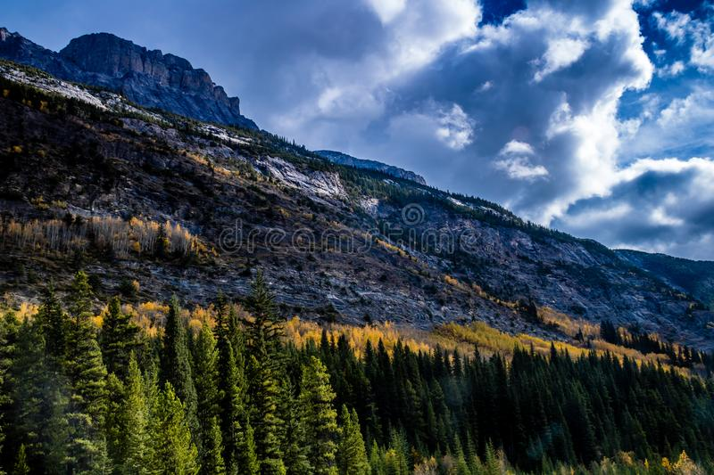 The scenic views from the Ice Field Parkway, Banff National Park stock photo