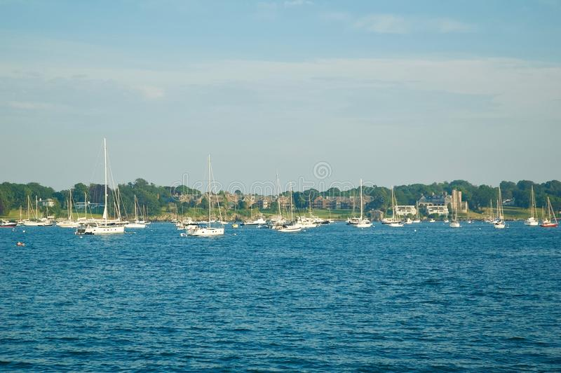 Scenic Views of Newport Marina in Newport, Rhode Island. stock images