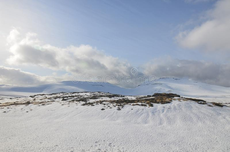 Scenic Views of Snaefellsjokul in Western Iceland royalty free stock photography