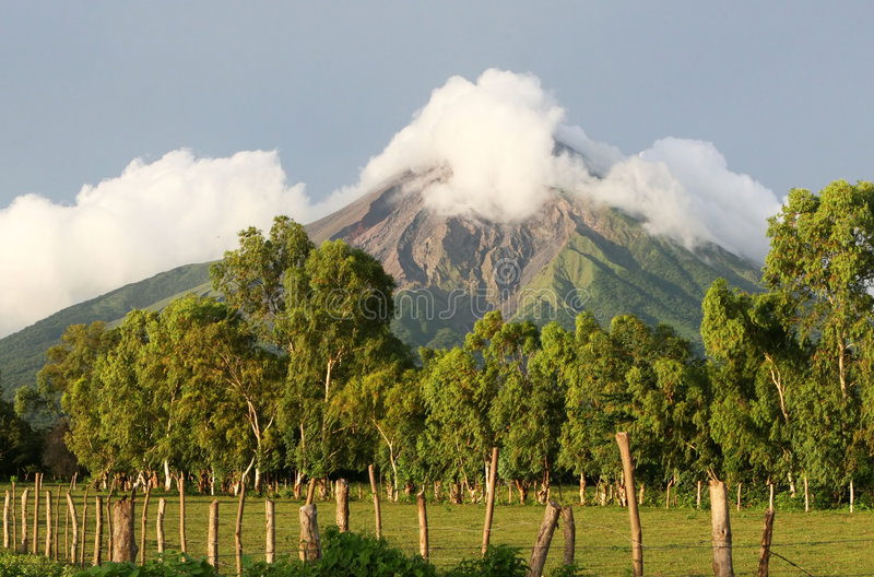 Scenic Volcano royalty free stock images