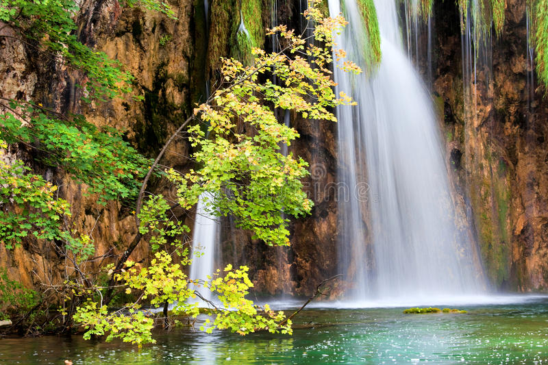 Scenic Waterfall in Autumn royalty free stock image