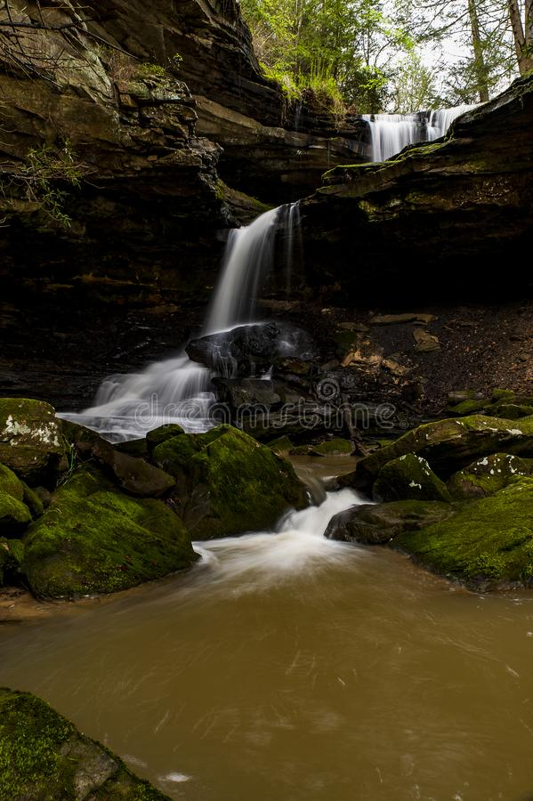 Scenic Waterfall - McCammon Branch Falls - Kentucky. A view of the scenic McCammon Branch Falls in the Appalachian Mountains of eastern Kentucky royalty free stock photos