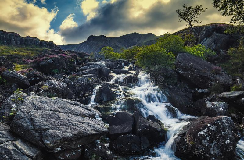 Scenic Waterfall in North Wales royalty free stock image