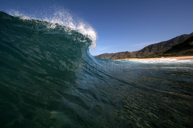 Scenic wave breaking royalty free stock photography