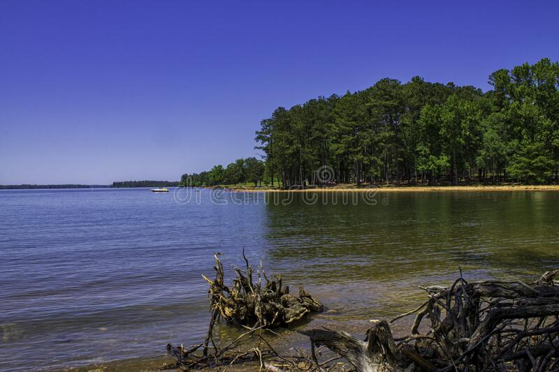 The Scenic West Point Lake. `The Scenic West Point Lake`, is photo captured at Lake West Point, near the town of West Point, Georgia stock photography