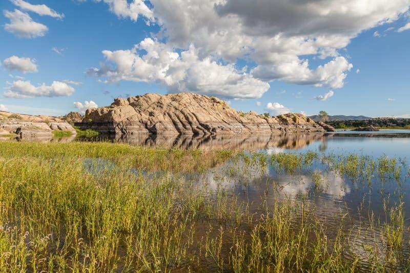 Scenic Willow Lake in Summer. The scenic landscape of willow lake Prescott Arizona royalty free stock image