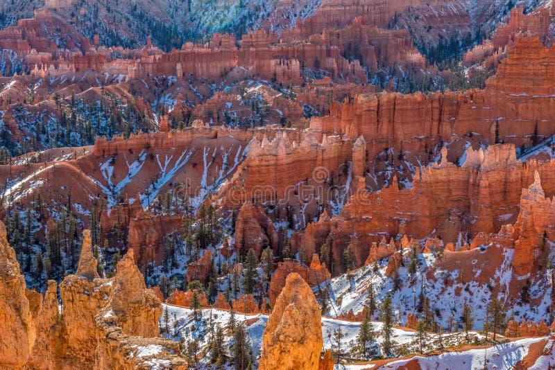 Winter at Bryce Canyon Utah stock photography