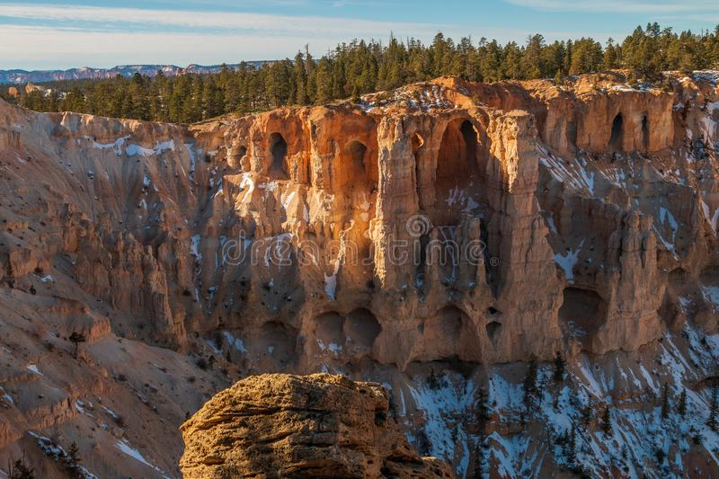 Winter in Bryce Canyon Utah royalty free stock photography