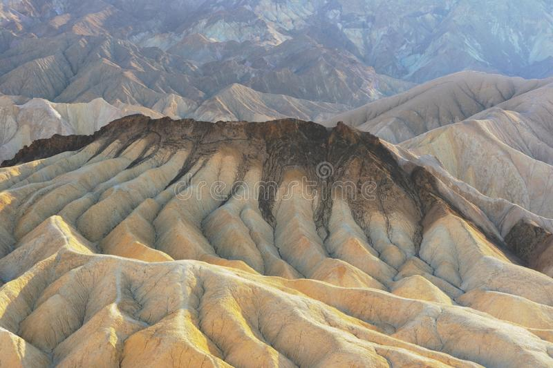 Scenic Zabriske Point in Death Valley National Park royalty free stock photo