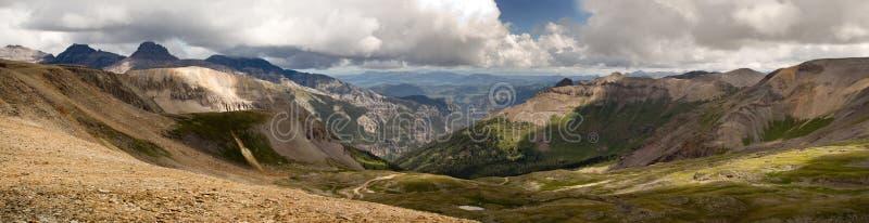 Scenico panoramico superiore di Imogene Pass Ouray Colorado Mountain fotografia stock libera da diritti