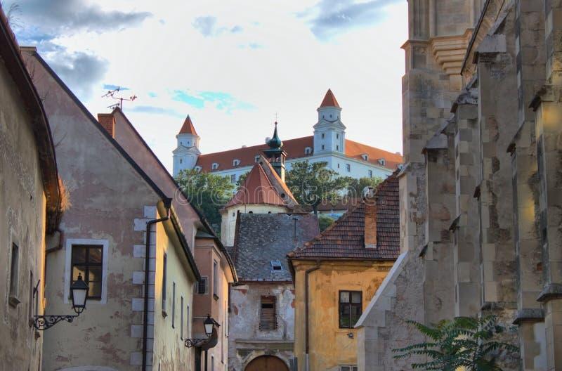 Scenico urbano di Bratislava fotografia stock