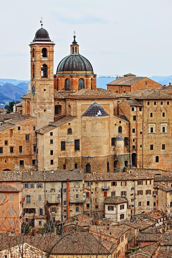 Scenico urbano di Urbino fotografie stock libere da diritti