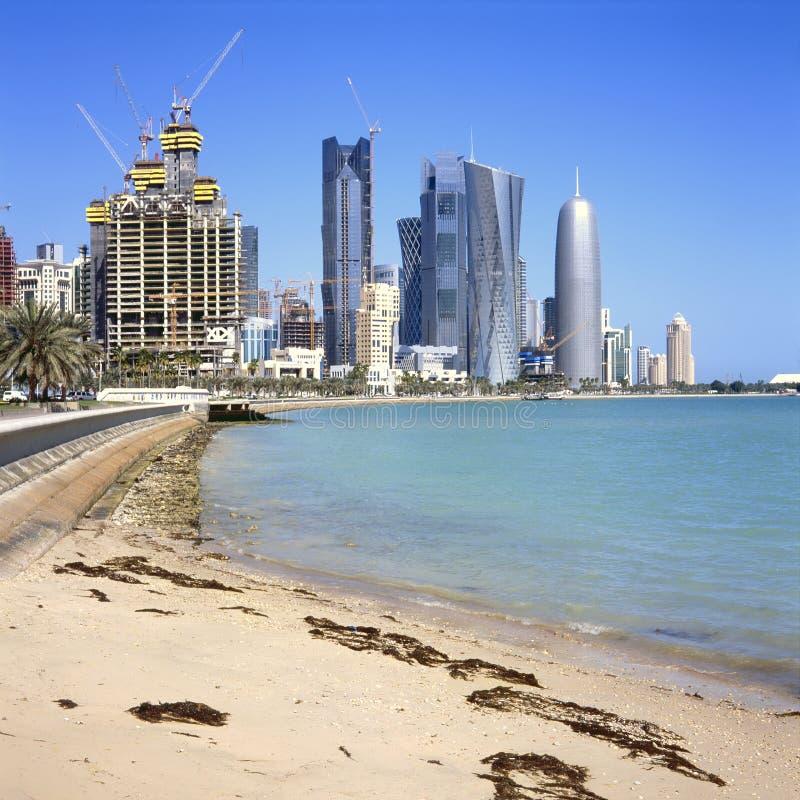 Scenics залива Дохи стоковое фото rf