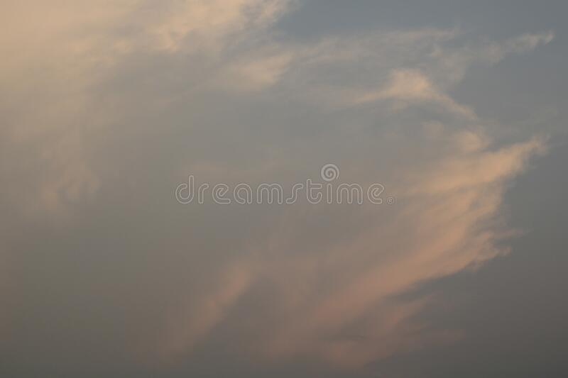 Scenics of the beauty sky during sunset. stock photo