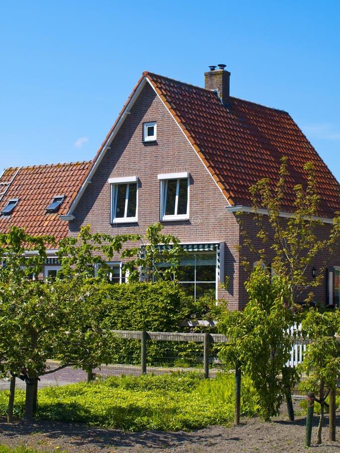 Scenics Cottages in Marken, Netherlands stock images