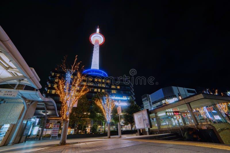 Scenics hermoso de la torre de Kyoto fotografía de archivo libre de regalías